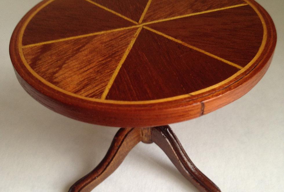 Round Inlaid Table (Hexagonal Design)