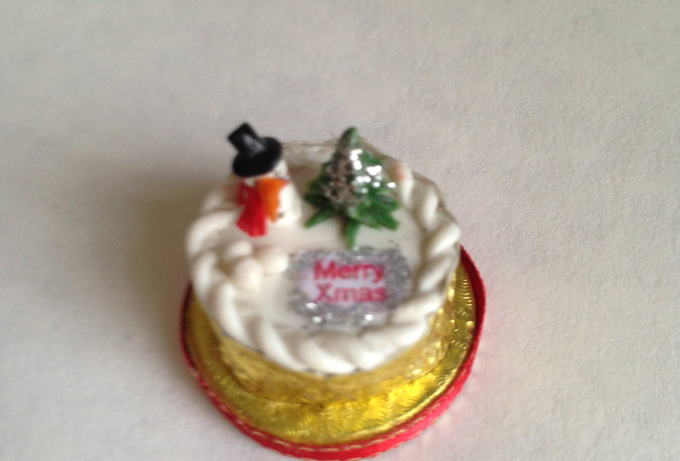Christmas Cake (with Santa and Tree)