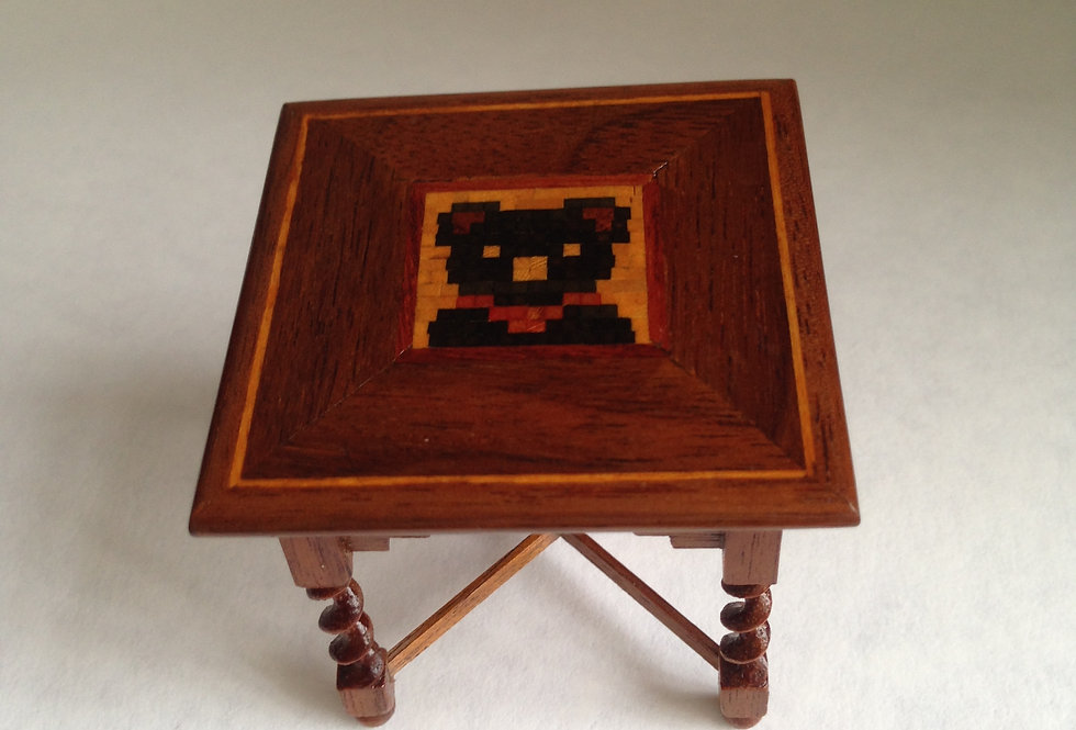 Square Marquetry Table