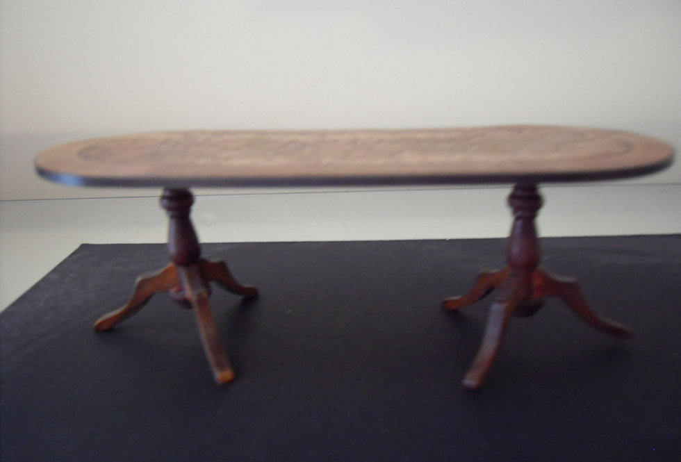 Inlaid 6 seater Dining Table (Dark Wood)