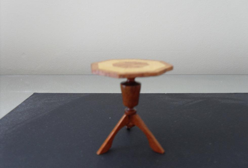 Inlaid Octagonal Tripod Table