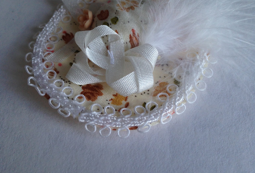 Fascinator with White Feather