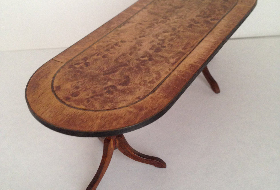 Oblong Wooden Inalid Table