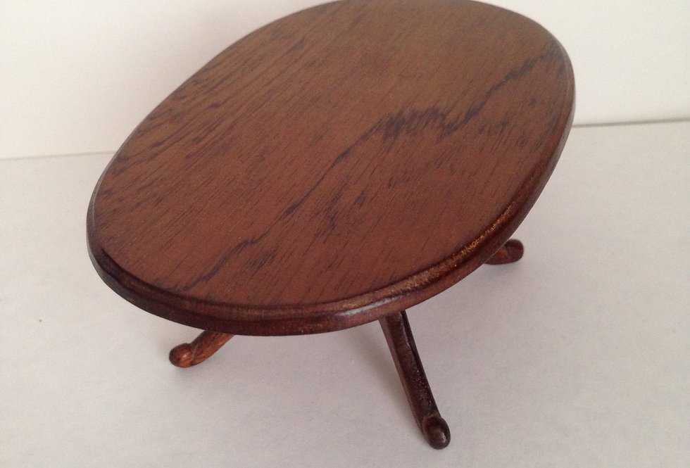 Dark Wooden Oval Table