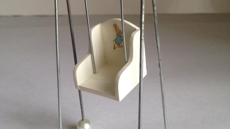 Genuine Peter Rabbit 1/12th scale dolls house miniature