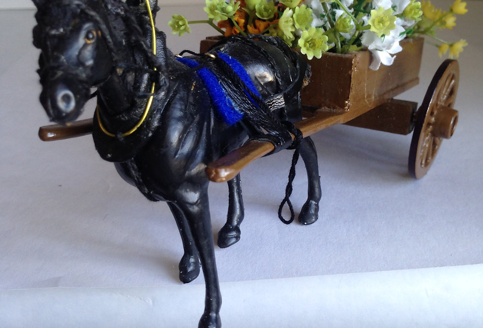Horse and Flower Cart