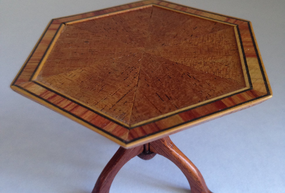 Hexagonal Tripod Table (Inlaid)