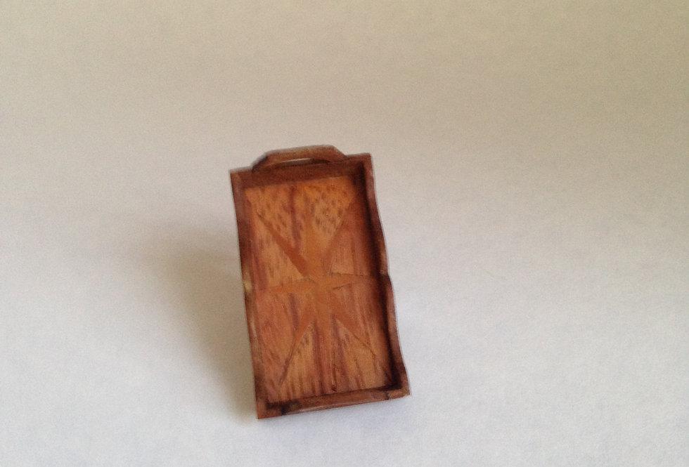 Inlaid Tea Tray (Dark Wood)