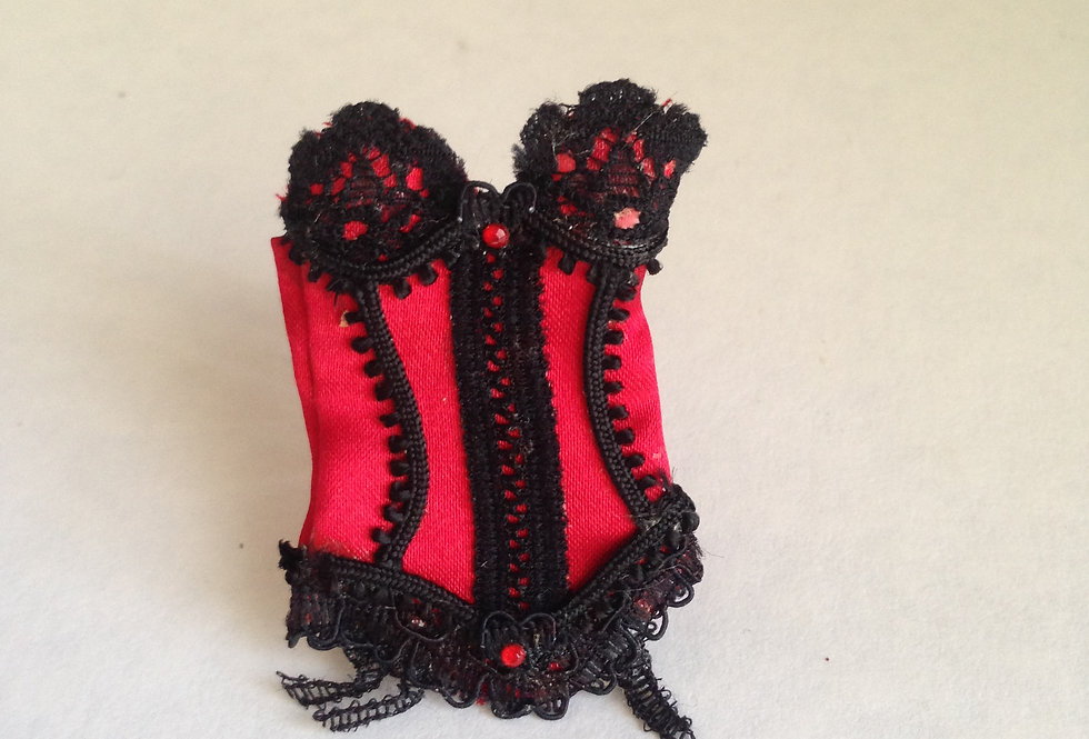 Red Basque with Black Trim
