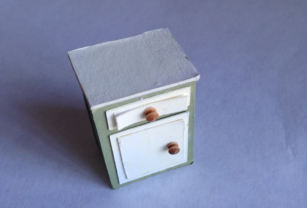 Pained Bedside Cabinet