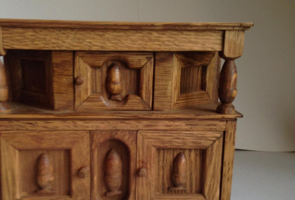 Tudor Style Court Cupboard (Acorn detail)