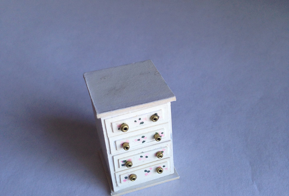 Pained Bedroom Chest of Drawers