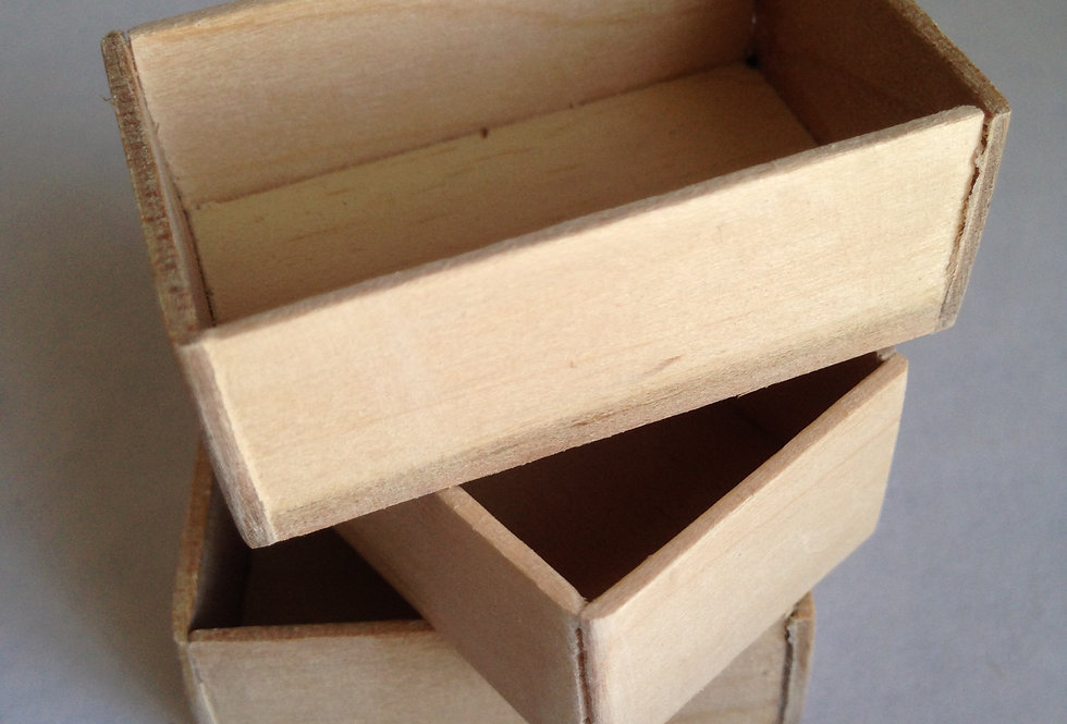 Wooden Vegetable Boxes (x3)