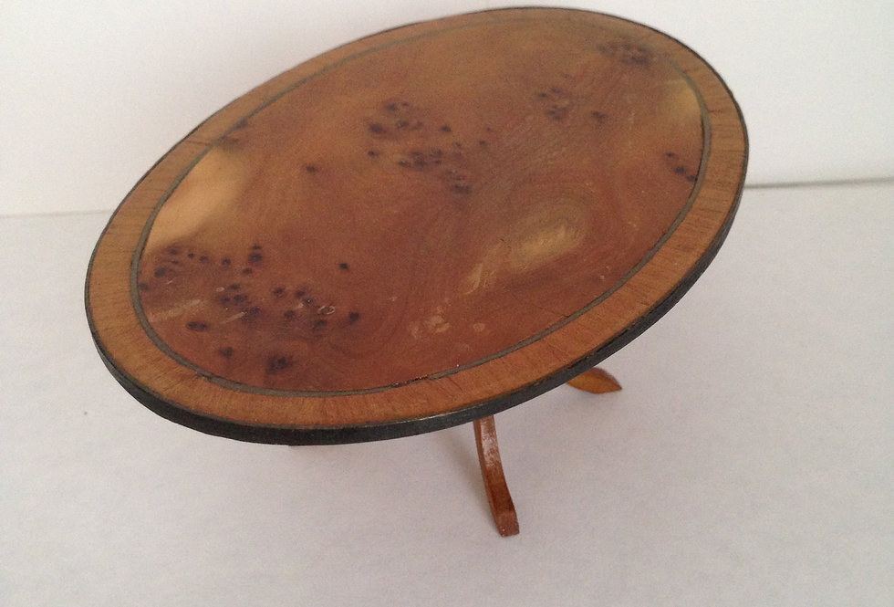 Oval Wooden Inlaid Table