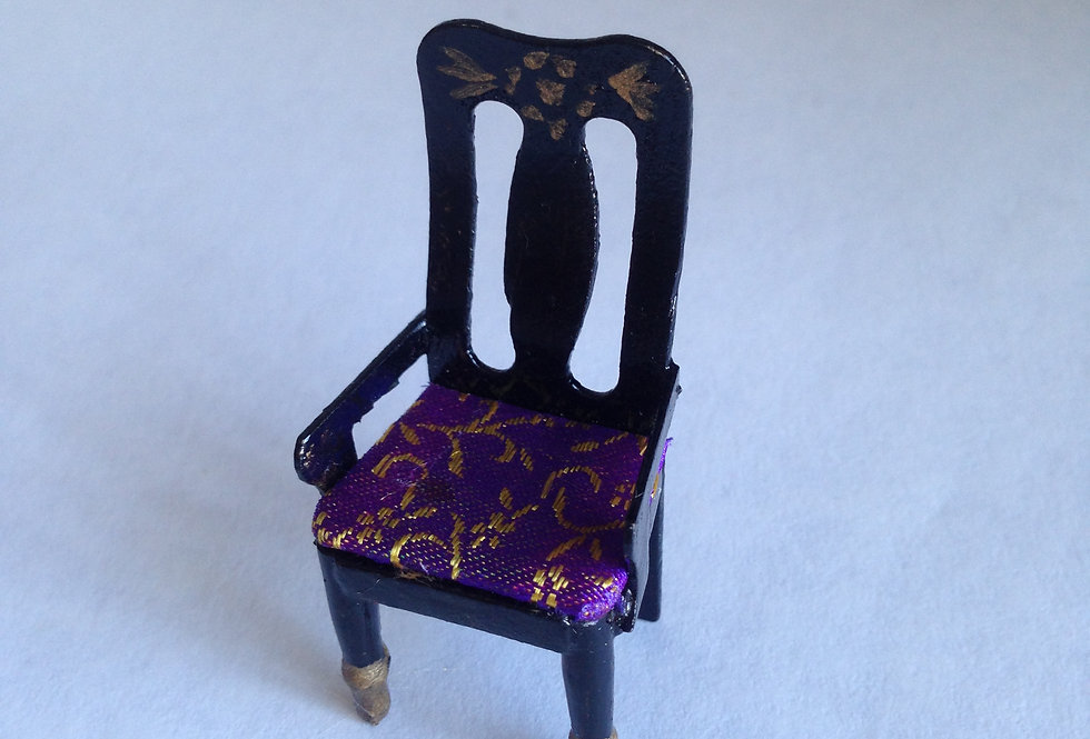 Hand Decorated High Back Chair