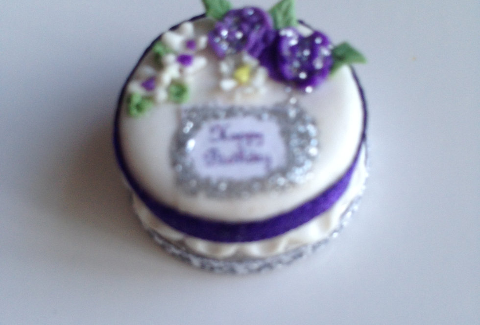 Birthday Cake (Purple Ribbon)