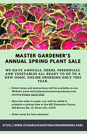 MG Annual Spring Plant Sale Flyer page 1