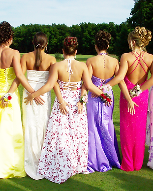 Prom, girls taking prom pictures