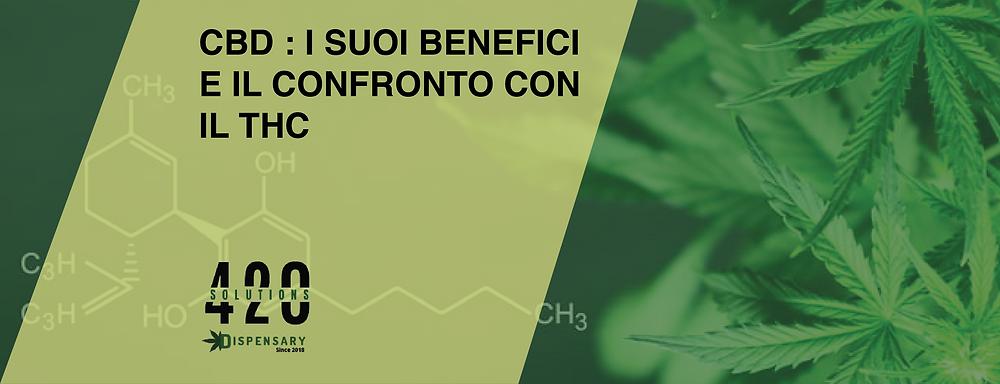 CBD E CONFRONTO CON IL THC