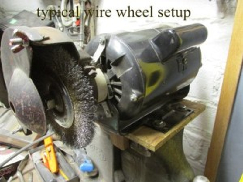 Typical Wire Wheel Setup