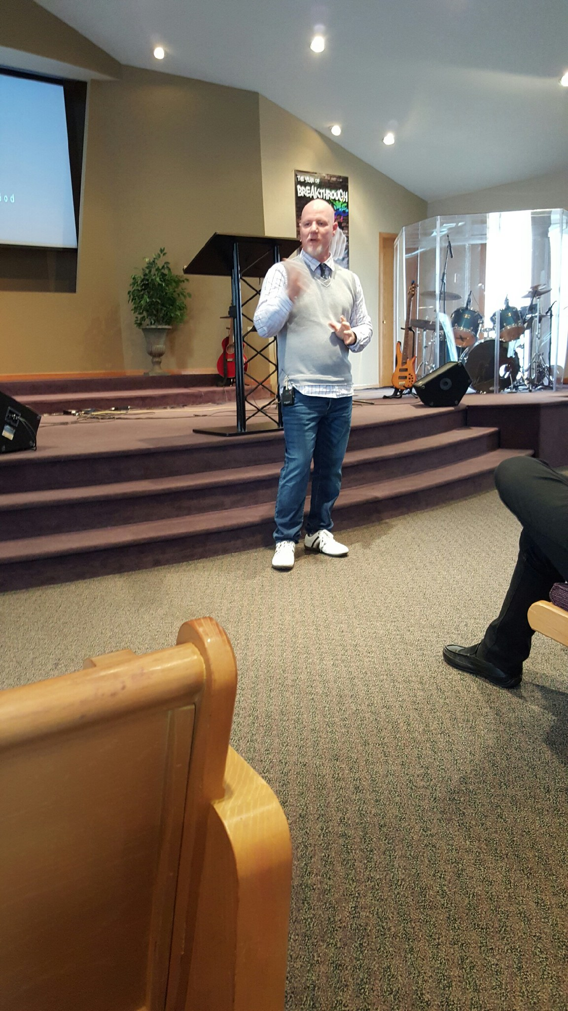 Pastor Brent Anderson ministering