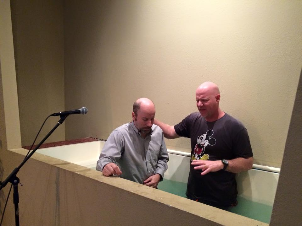 Pastor Brent Anderson water baptism