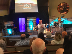 Pastor Brent Anderson preaching