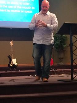 Pastor Brent Anderson teaching