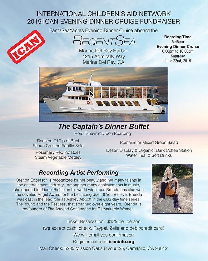 ICAN Marina Del Rey Evening Cruise Flyer