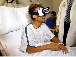 patient using virtual reality