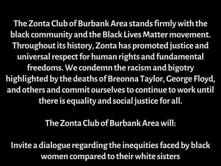 A statement from Zonta Burbank