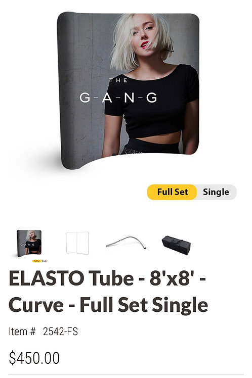 ELASTO Tube - 8'x8' - Curve - Full Set Single