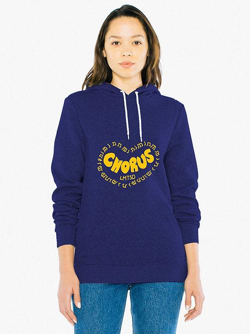 American Apparel Unisex Salt And Pepper Pullover Hooded Sweatshirt