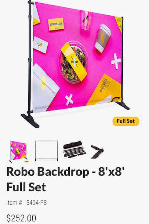 Robo Backdrop - 8'x8' Full Set
