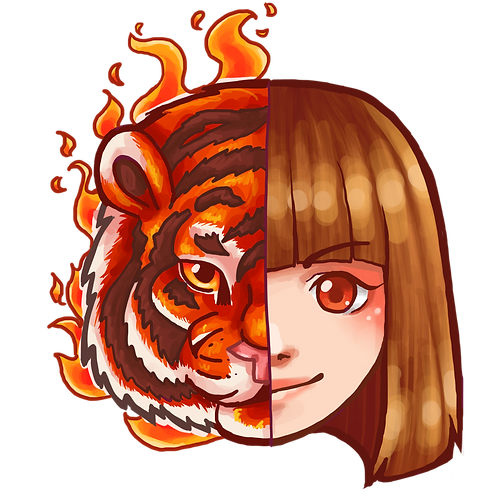 Red Tiger Art Pin