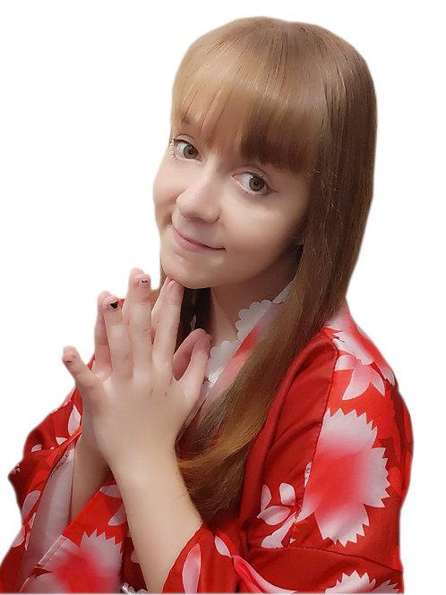 Red Yukata 6x4 Photo Print