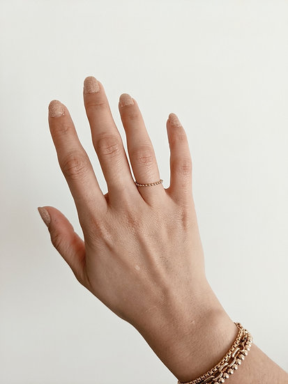 Gold Beads Ring