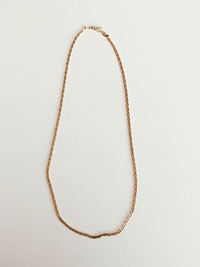 Square Flat Chain Necklace