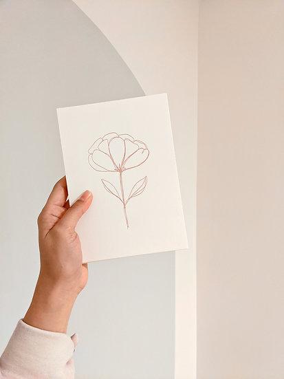 Floral Letterpress Card