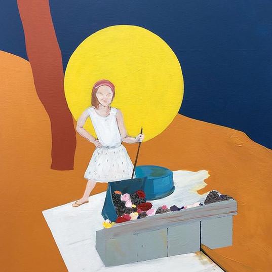 Evie, 2019, acrylic on canvas, 60x50 cm.