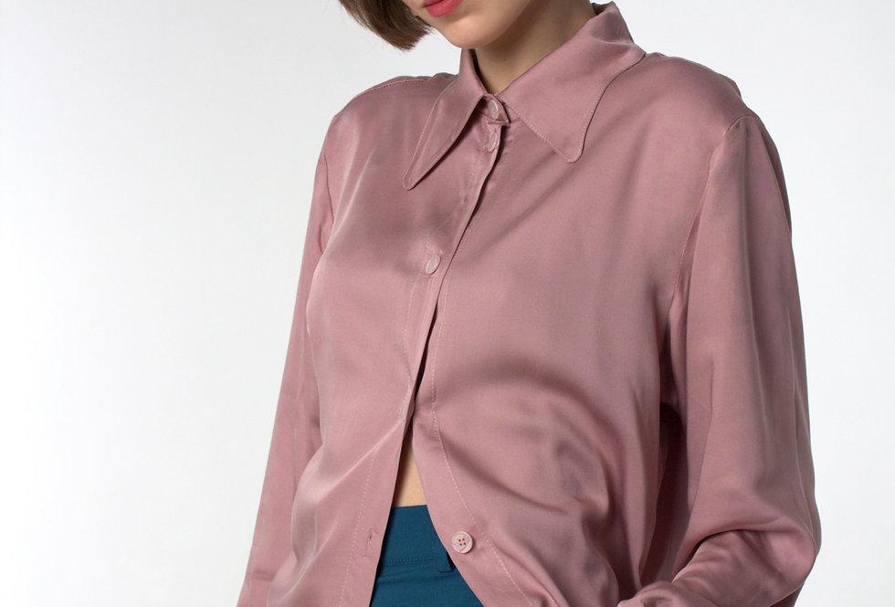 Блуза - вискозный шелк/ Розовая