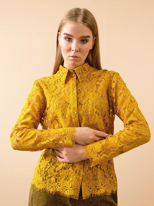 Блуза из кордового кружева