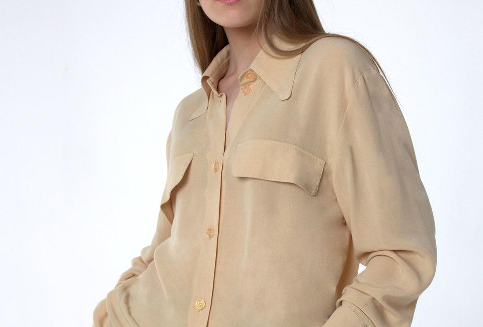 Блуза вискозная/ Бежевая