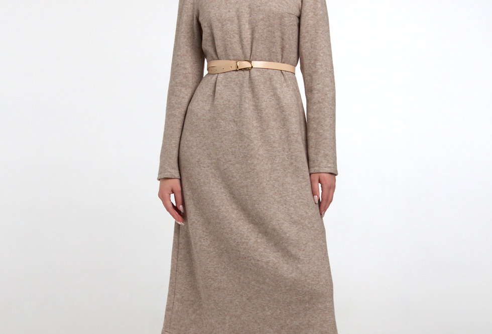 Трикотажное платье А-силуэта/ Меланж