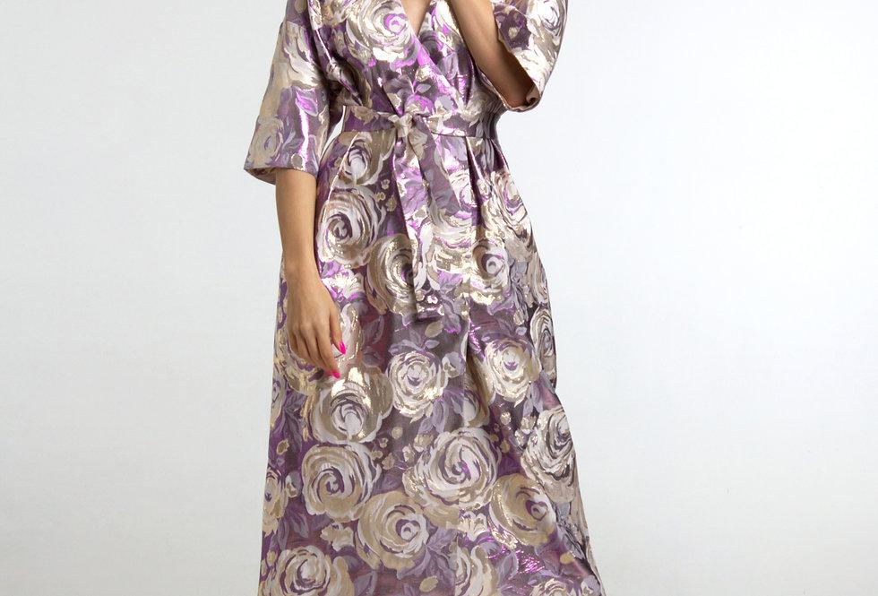 Платье -халат /в лиловых тонах