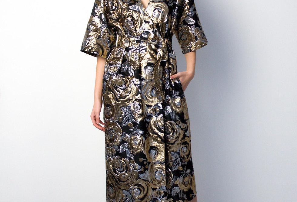 Платье -халат /Золото-серебро