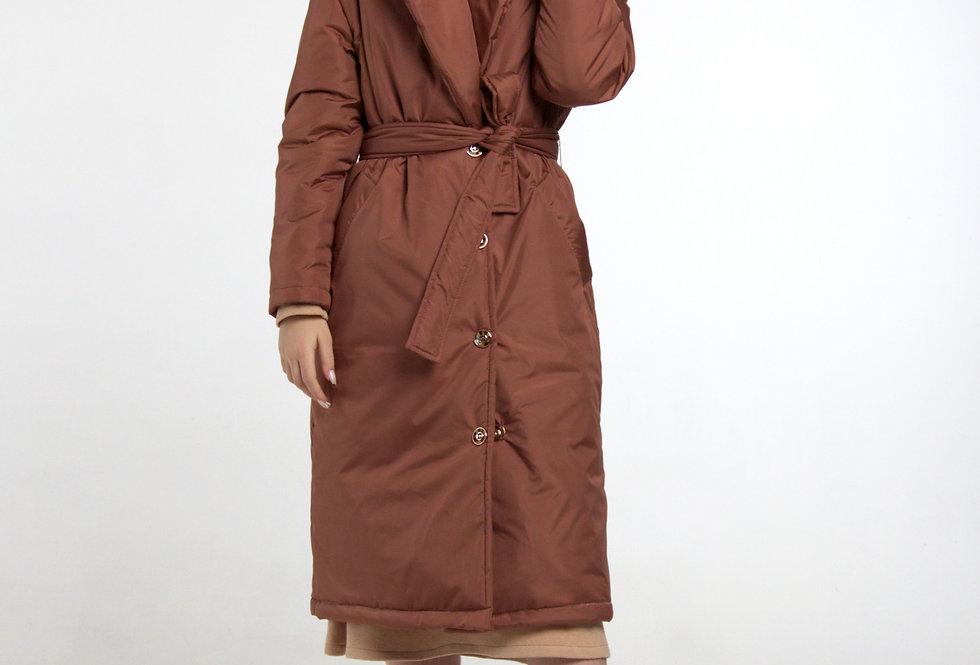 Пальто на утеплителе /Терракота