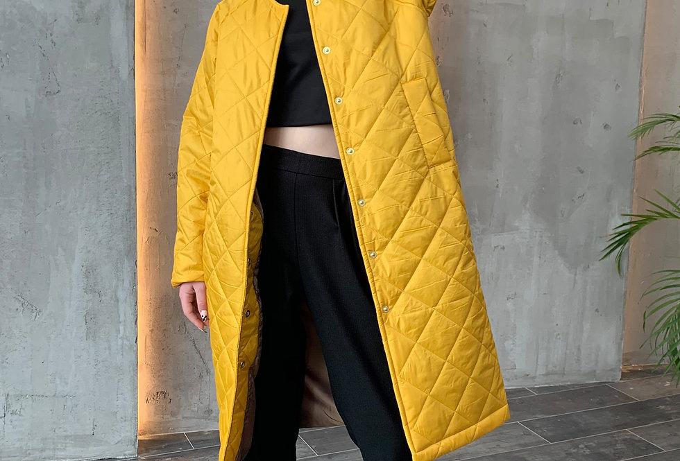 Пальто на синтепоне/Желтый