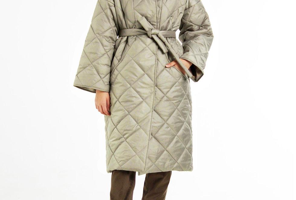 Пальто на синтепоне/Олива-металлик