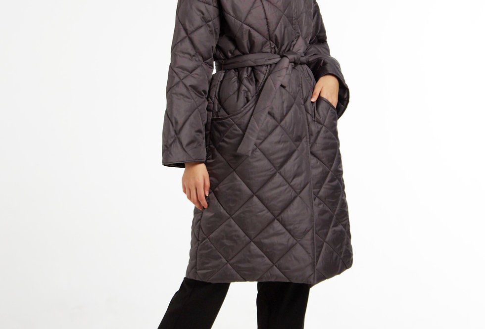 Пальто на синтепоне/Темно-серый